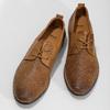 Ležérní kožené polobotky s perforací bata, hnědá, 856-3601 - 16