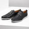 Ležérní kožené polobotky bata, modrá, černá, 824-9124 - 16