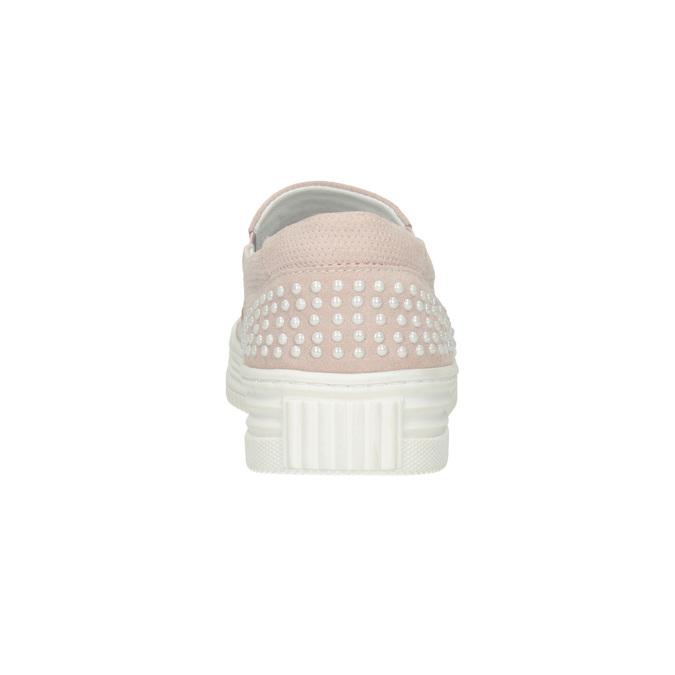 Dámská kožená Slip-on obuv bata, růžová, 533-5600 - 16