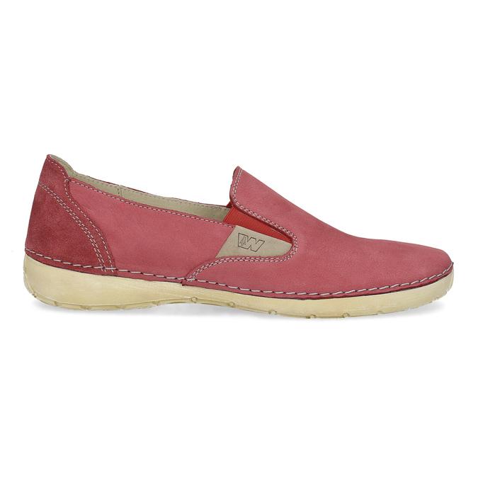 Červené dámské Slip-on weinbrenner, červená, 536-5606 - 19