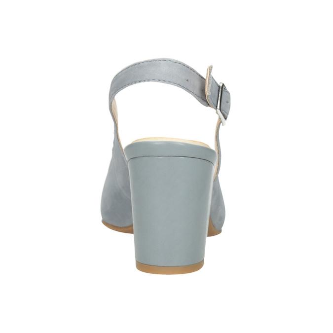 Dámské kožené lodičky pillow-padding, modrá, 726-9652 - 16