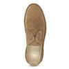 Kožené pánské polobotky z broušené kůže bata, hnědá, 823-3631 - 17