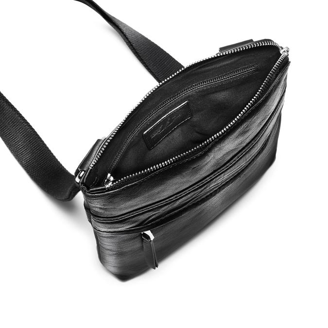 Černá kožená Crossbody taška bata, černá, 964-6288 - 16