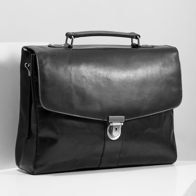 Kožená pánská aktovka bata, černá, 964-6289 - 17