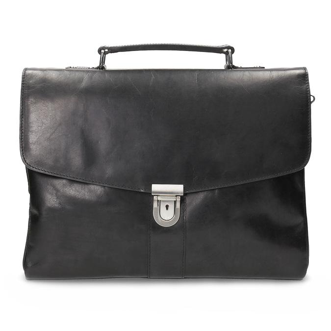 Kožená pánská aktovka bata, černá, 964-6289 - 26