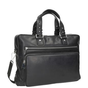 Kožená taška na dokumenty bata, černá, 964-6287 - 13