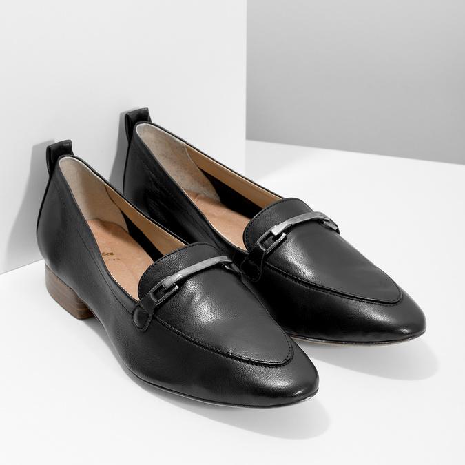 Kožené dámské mokasíny s přezkou bata, černá, 516-6619 - 26