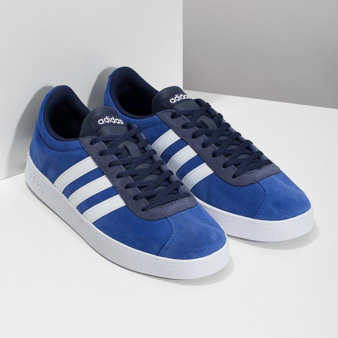 Modré tenisky z broušené kůže adidas, modrá, 803-9979 - 26