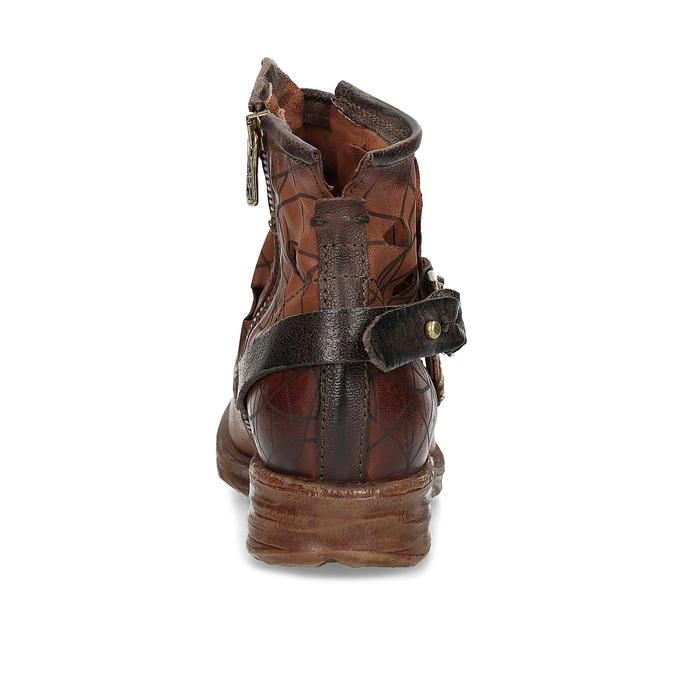 Kotníčková obuv na masivní podešvi a-s-98, hnědá, 516-4012 - 15