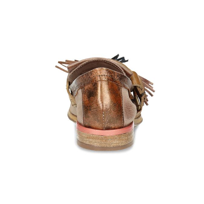 Kožené mokasíny s ozdobamí a-s-98, béžová, 516-8058 - 15