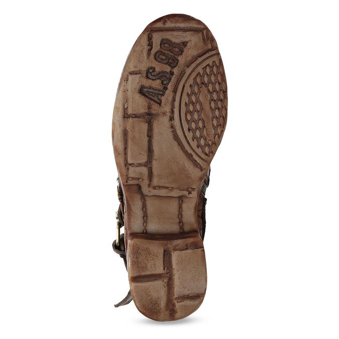 Kotníčková obuv na masivní podešvi a-s-98, hnědá, 516-4012 - 18