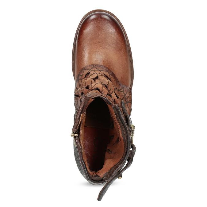 Kotníčková obuv na masivní podešvi a-s-98, hnědá, 516-4012 - 17