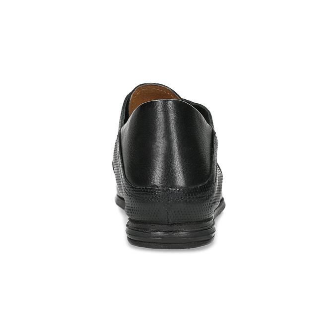 Kožené dámské polobotky bez šněrování a-s-98, černá, 516-6011 - 15