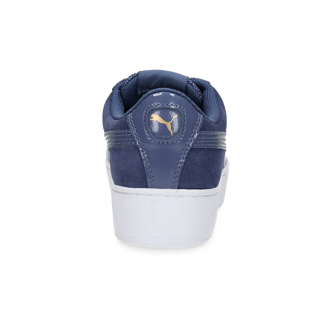 Kožené tenisky na široké podešvi puma, modrá, 503-9923 - 15