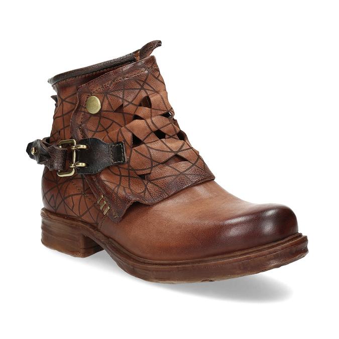 Kotníčková obuv na masivní podešvi a-s-98, hnědá, 516-4012 - 13