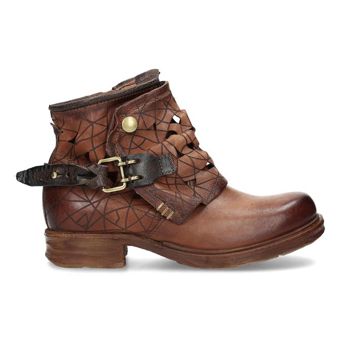 Kotníčková obuv na masivní podešvi a-s-98, hnědá, 516-4012 - 19