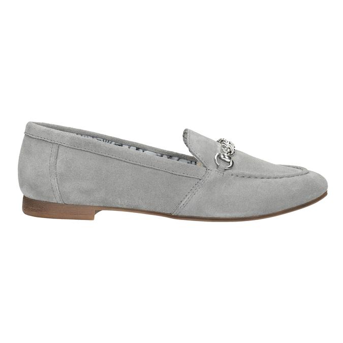 Šedé kožené mokasíny bata, šedá, 513-2615 - 26
