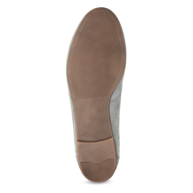 Šedé kožené mokasíny bata, šedá, 513-2615 - 18