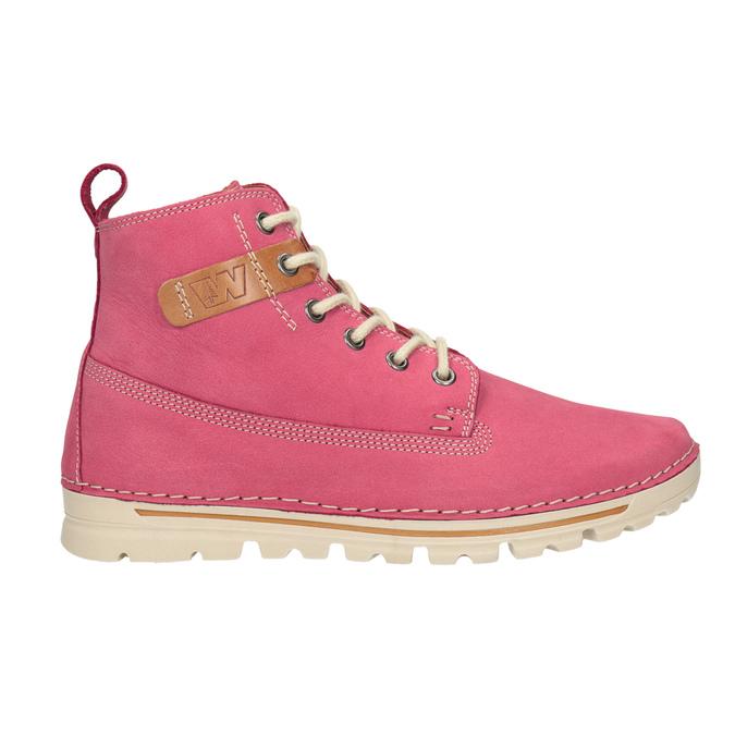 Kožená růžová kotníčková obuv weinbrenner, 594-5666 - 16