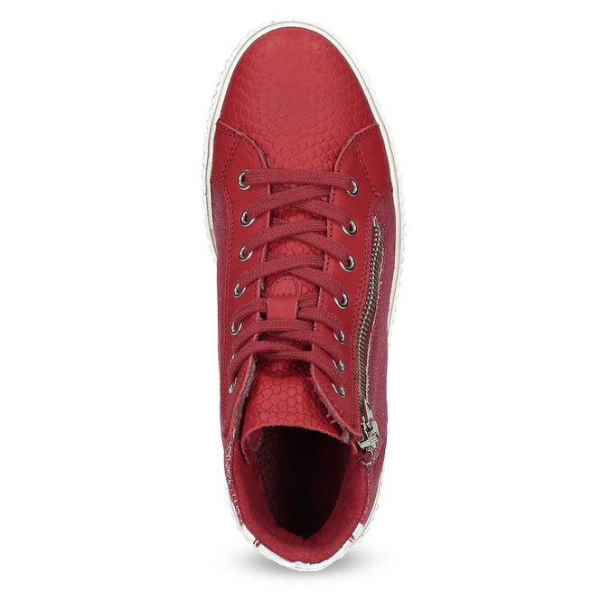Kožené kotníčkové tenisky červené bata, červená, 596-5692 - 17