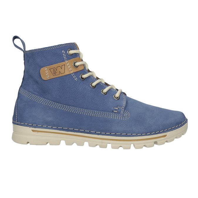 Dámská kožená kotníčková obuv weinbrenner, modrá, 594-9666 - 16