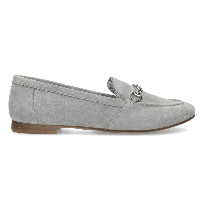 Šedé kožené mokasíny bata, šedá, 513-2615 - 19