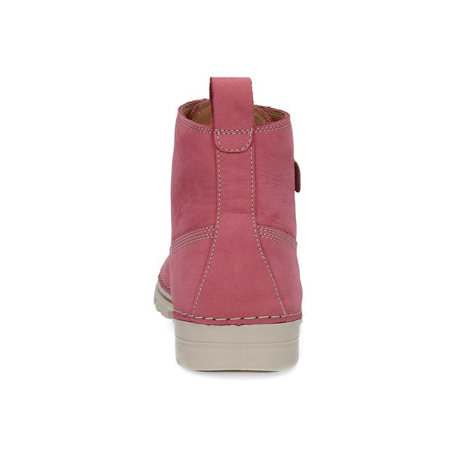 Kožená růžová kotníčková obuv weinbrenner, 594-5666 - 15