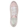 Kožené růžové tenisky s perličkami bata, růžová, 546-5606 - 15