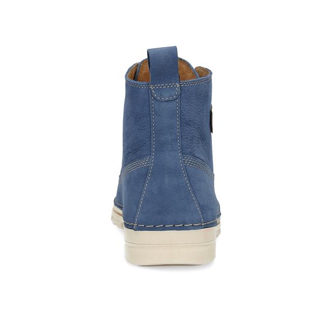 Dámská kožená kotníčková obuv weinbrenner, modrá, 594-9666 - 15