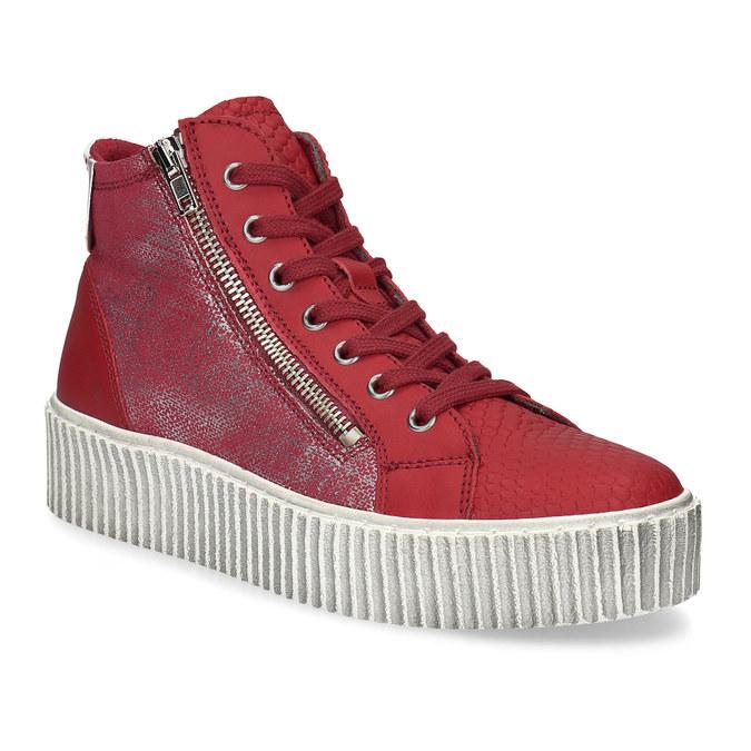 Kožené kotníčkové tenisky červené bata, červená, 596-5692 - 13