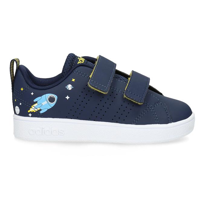 Dětské modré tenisky na suché zipy adidas, modrá, 101-9129 - 19