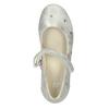 Stříbrné dívčí baleríny s páskem mini-b, stříbrná, 321-1615 - 15