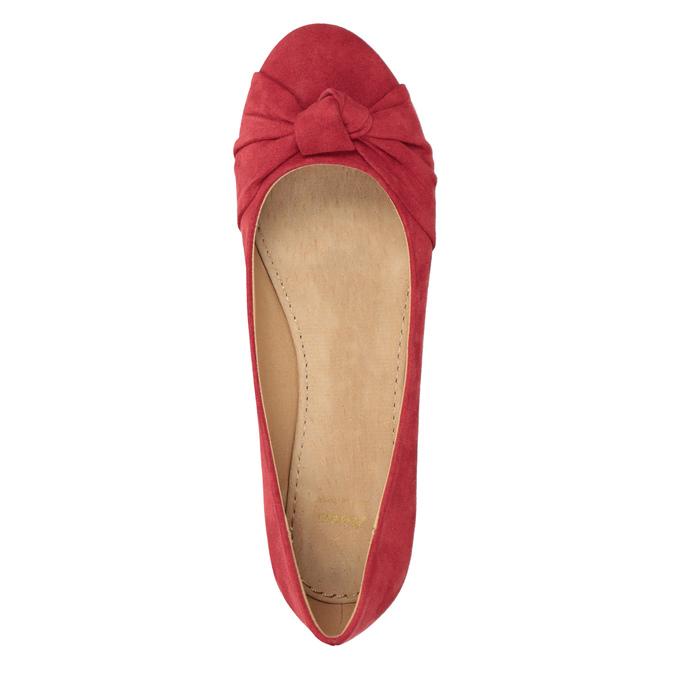 Červené baleríny s mašlí bata, červená, 529-5637 - 15