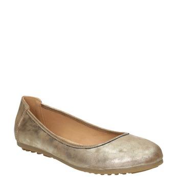 Zlaté dámské baleríny bata, 529-8640 - 13
