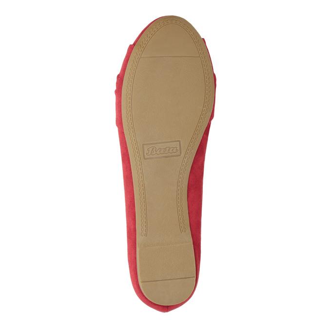 Červené baleríny s mašlí bata, červená, 529-5637 - 17