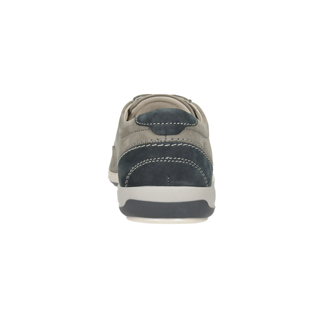 Kožené polobotky s prošitím na špici comfit, šedá, 846-2803 - 15