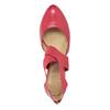 Růžové kožené lodičky insolia, červená, 624-5643 - 15