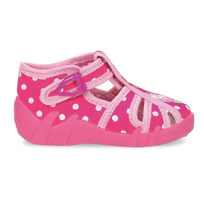 Dívčí růžové pantofle mini-b, 179-5601 - 19