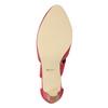 Růžové kožené lodičky insolia, červená, 624-5643 - 17