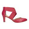 Růžové kožené lodičky insolia, červená, 624-5643 - 26