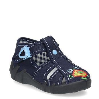 Chlapecká domácí obuv modrá mini-b, modrá, 179-9601 - 13