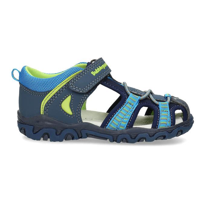 Dětské sandály na suchý zip bubblegummers, modrá, 161-9609 - 19