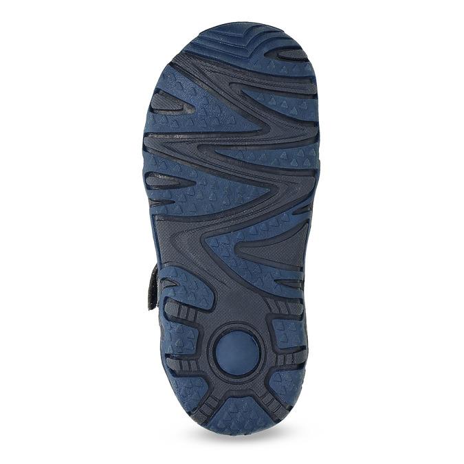 Dětské sandály na suchý zip bubblegummers, modrá, 161-9609 - 18
