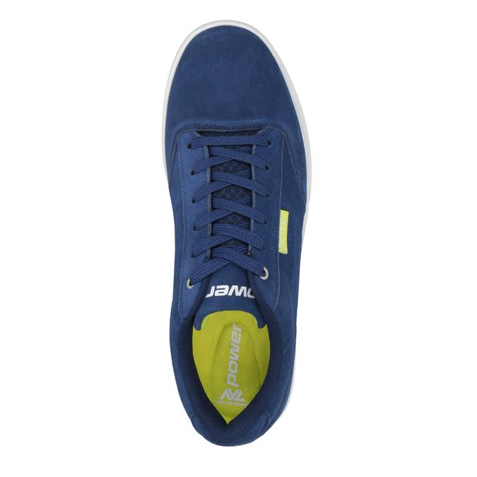 Kožené pánské tenisky modré power, modrá, 803-9860 - 15