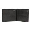 Kožená pánská peněženka s perforací bata, šedá, 944-2192 - 15