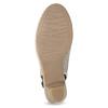 Kožené lodičky H s volnou patou bata, béžová, 623-2645 - 18