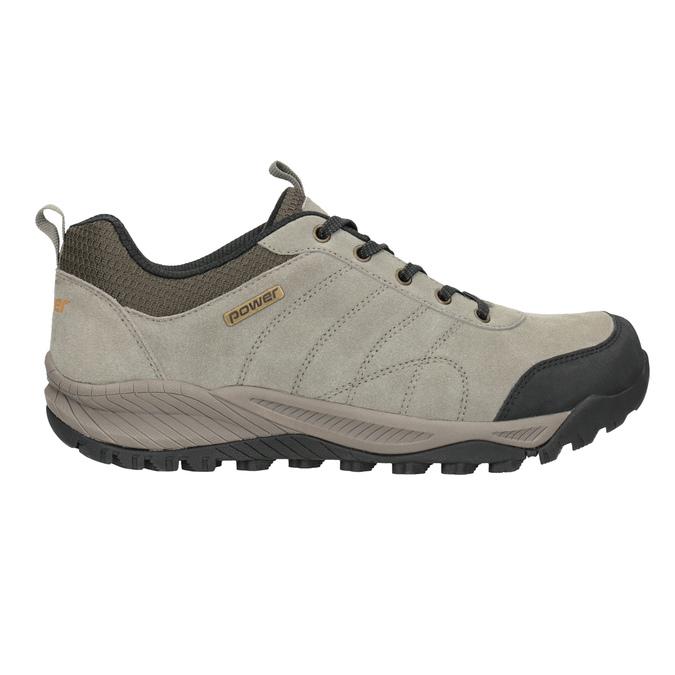 Kožená obuv v outdoor stylu power, šedá, 803-3848 - 26