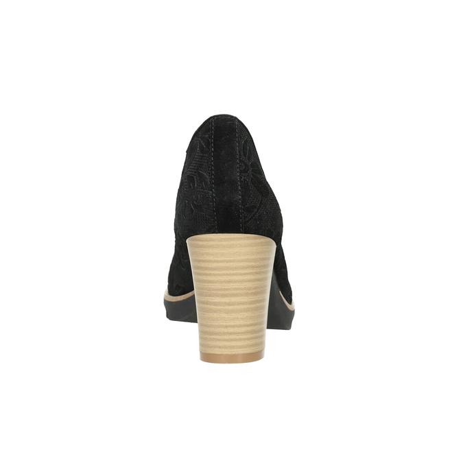 Kožené dámské lodičky pillow-padding, černá, 726-6650 - 16