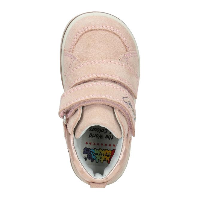 Dětská kotníčková kožená obuv dívčí bubblegummers, růžová, 123-5606 - 15