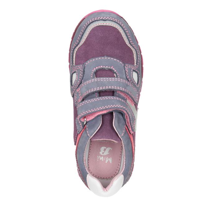Dívčí kožené tenisky na suché zipy mini-b, fialová, 223-9604 - 15